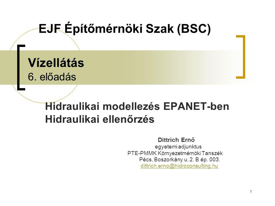 EJF Építőmérnöki Szak (BSC)