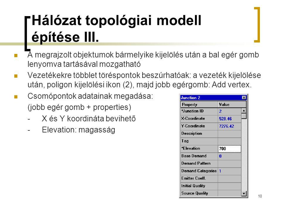 Hálózat topológiai modell építése III.