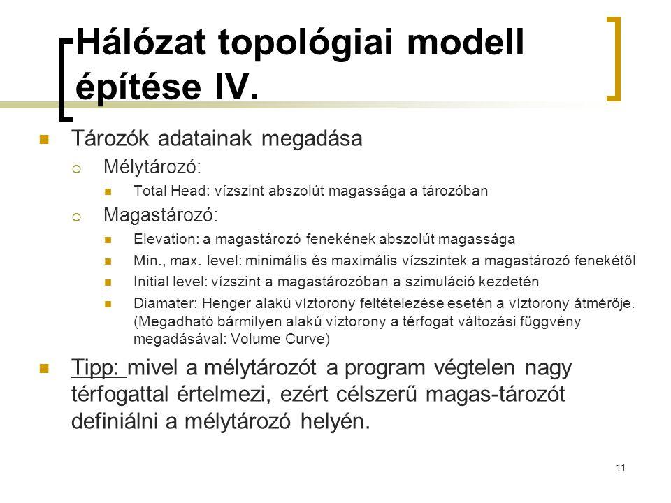 Hálózat topológiai modell építése IV.