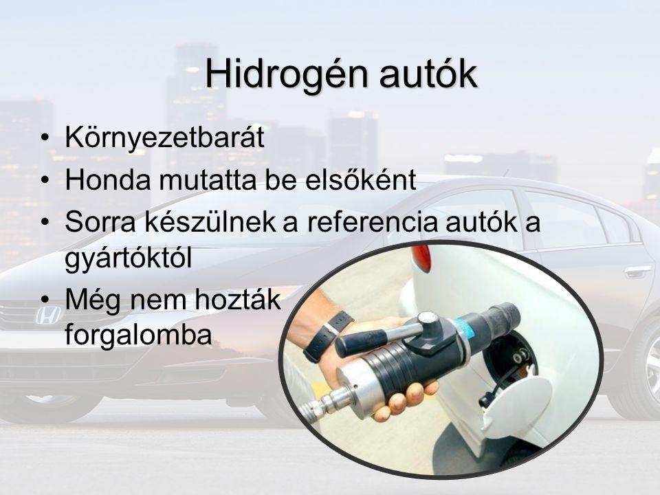 Hidrogén autók Környezetbarát Honda mutatta be elsőként
