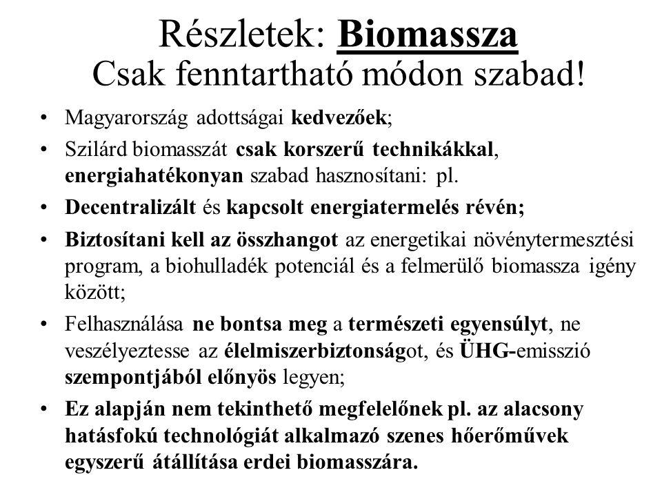 Részletek: Biomassza Csak fenntartható módon szabad!