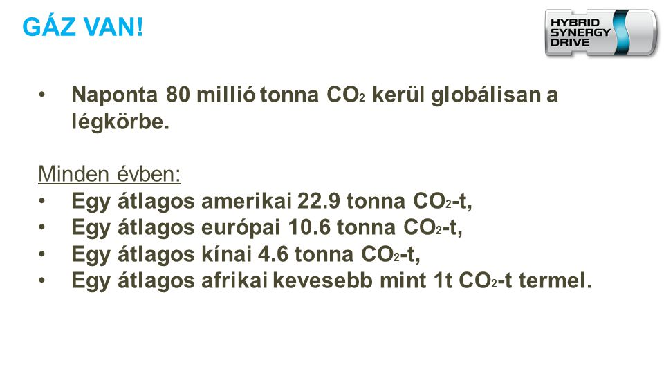 GÁZ VAN! Naponta 80 millió tonna CO2 kerül globálisan a légkörbe.