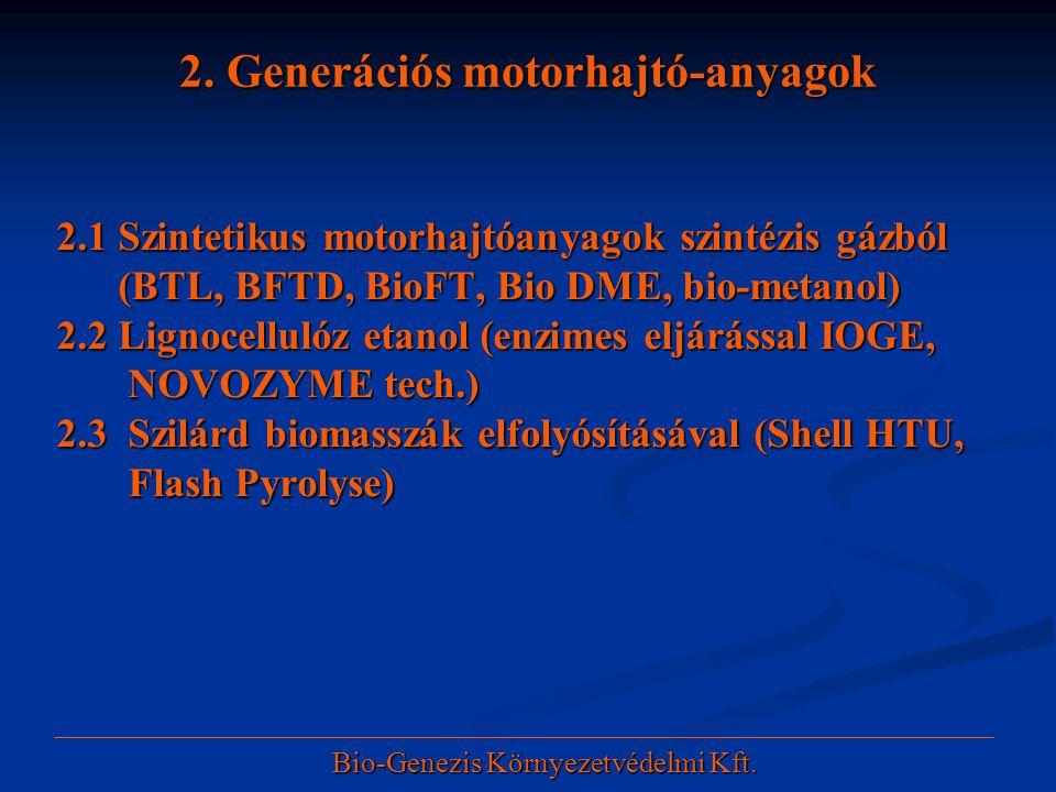 2. Generációs motorhajtó-anyagok
