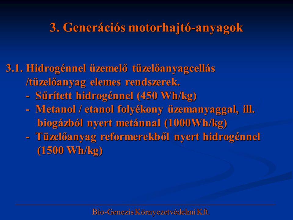 3. Generációs motorhajtó-anyagok