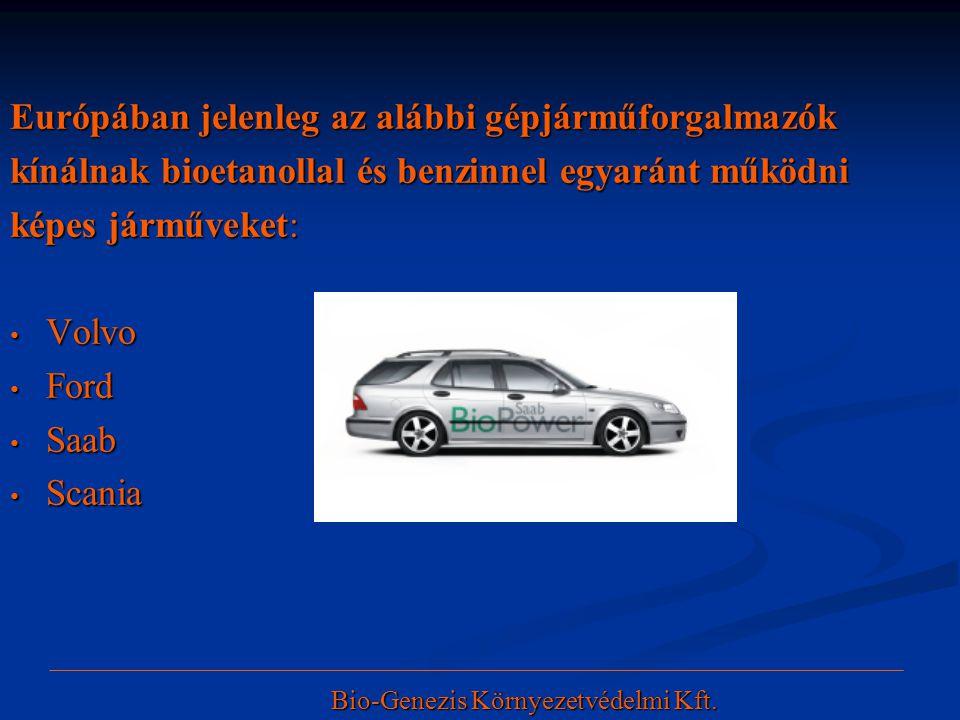 Európában jelenleg az alábbi gépjárműforgalmazók