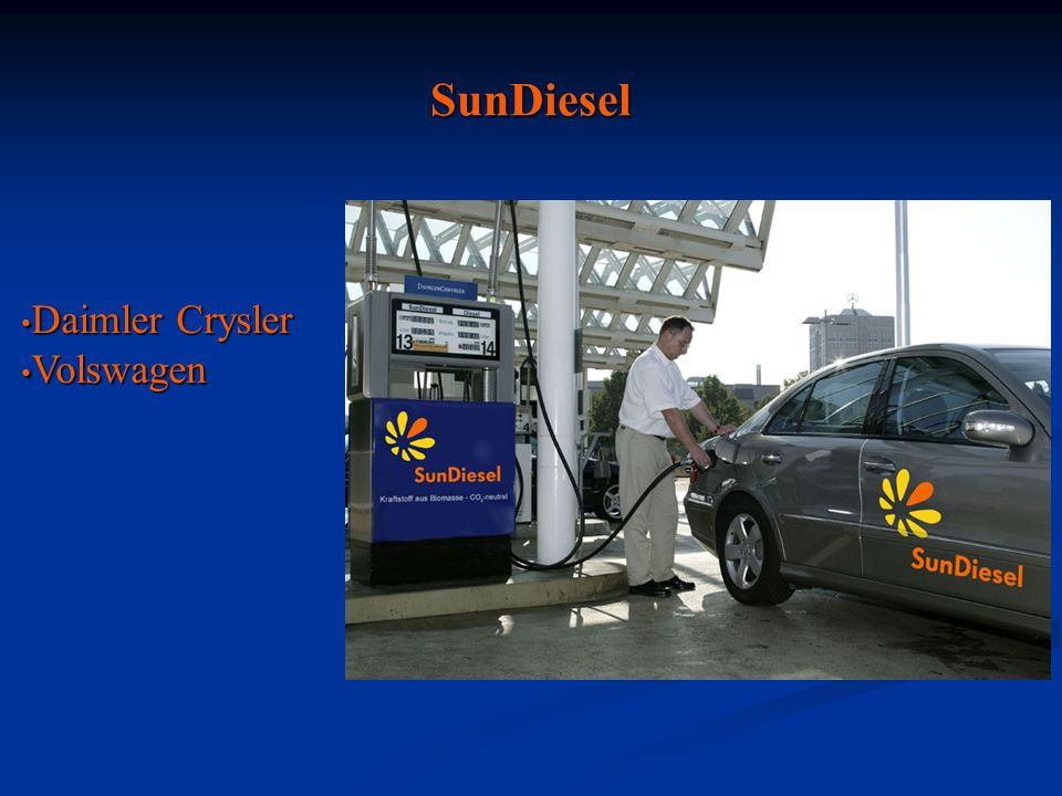 SunDiesel Daimler Crysler Volswagen