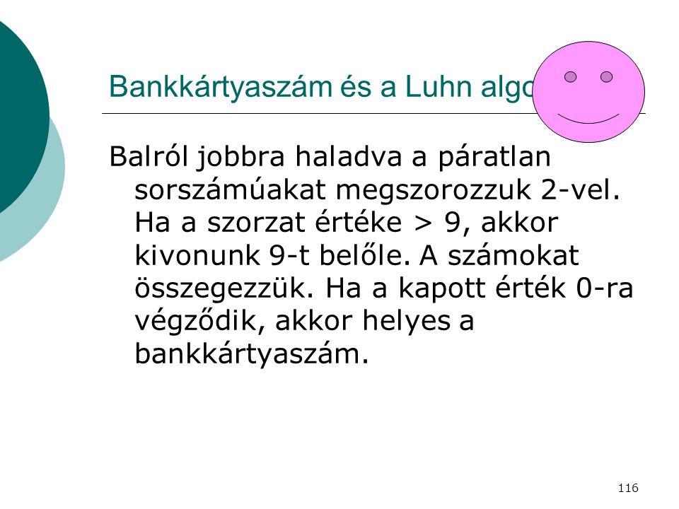 Bankkártyaszám és a Luhn algoritmus