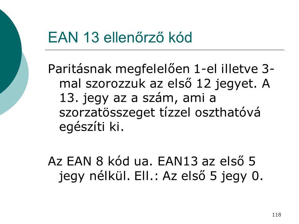 EAN 13 ellenőrző kód
