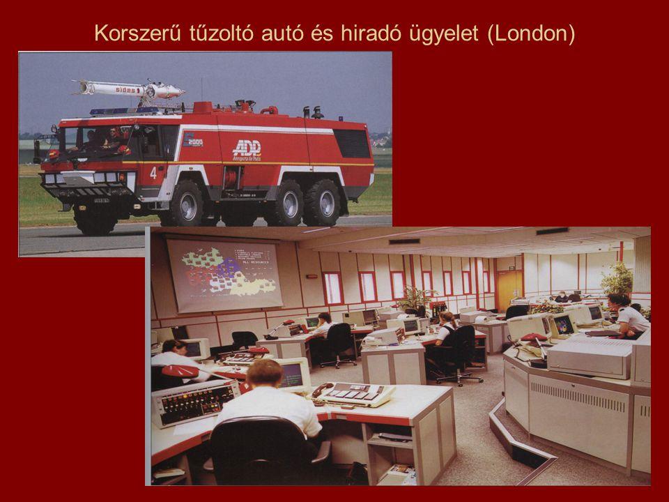 Korszerű tűzoltó autó és hiradó ügyelet (London)