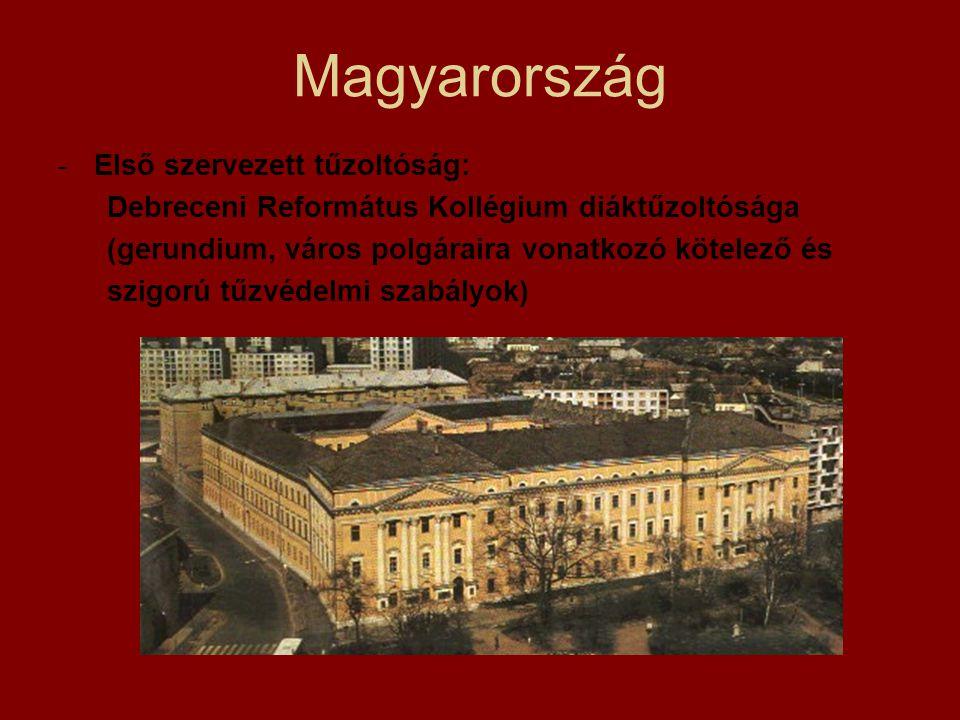 Magyarország Első szervezett tűzoltóság: