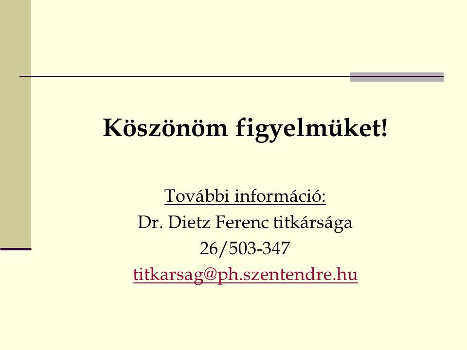 Dr. Dietz Ferenc titkársága