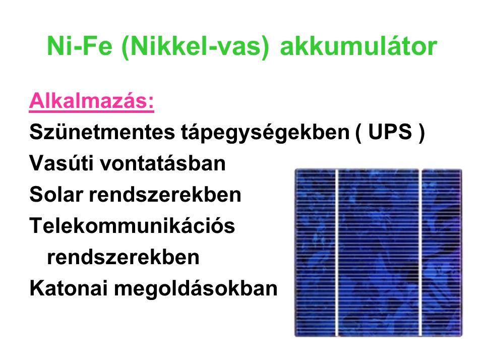 Ni-Fe (Nikkel-vas) akkumulátor