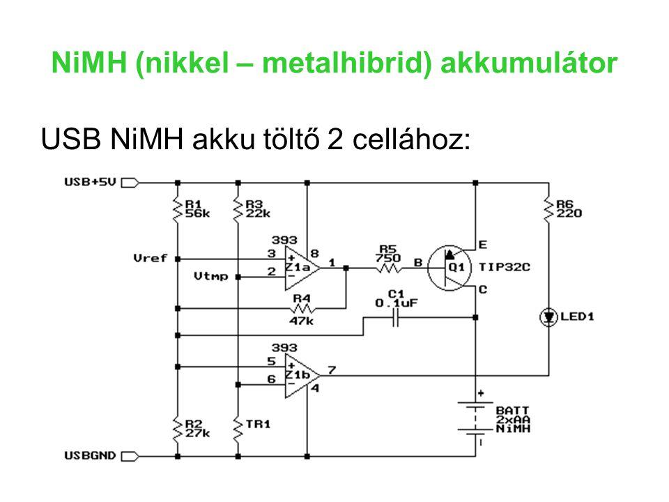 NiMH (nikkel – metalhibrid) akkumulátor