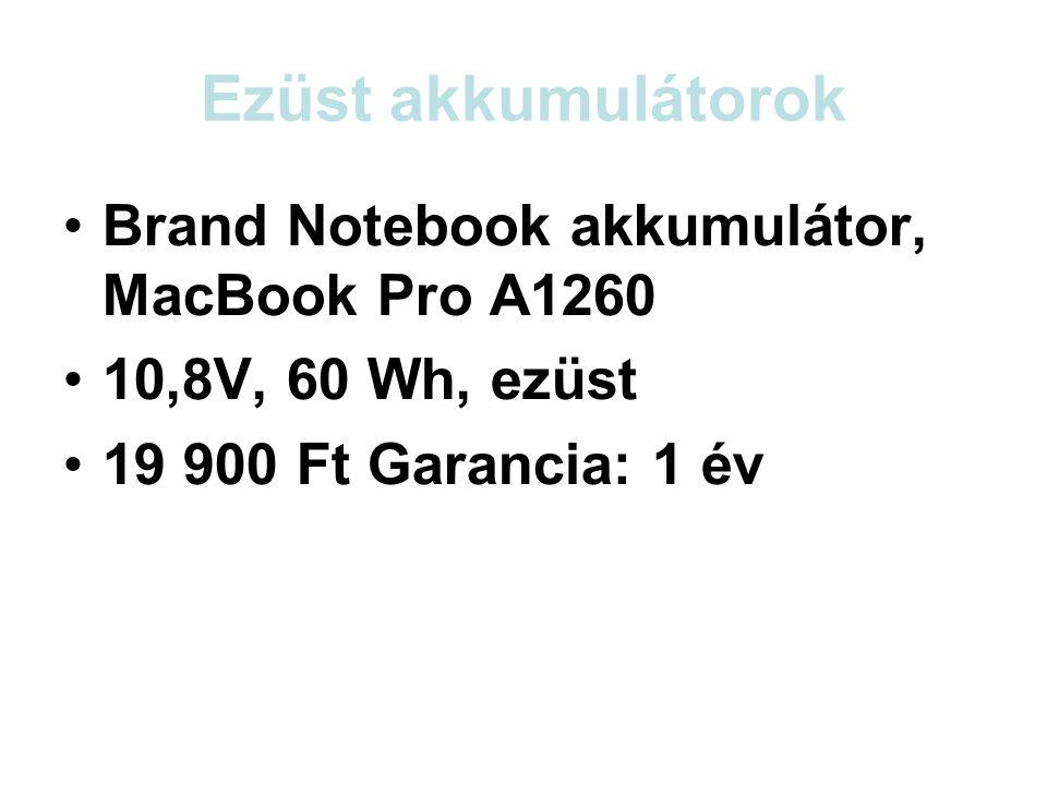 Ezüst akkumulátorok Brand Notebook akkumulátor, MacBook Pro A1260