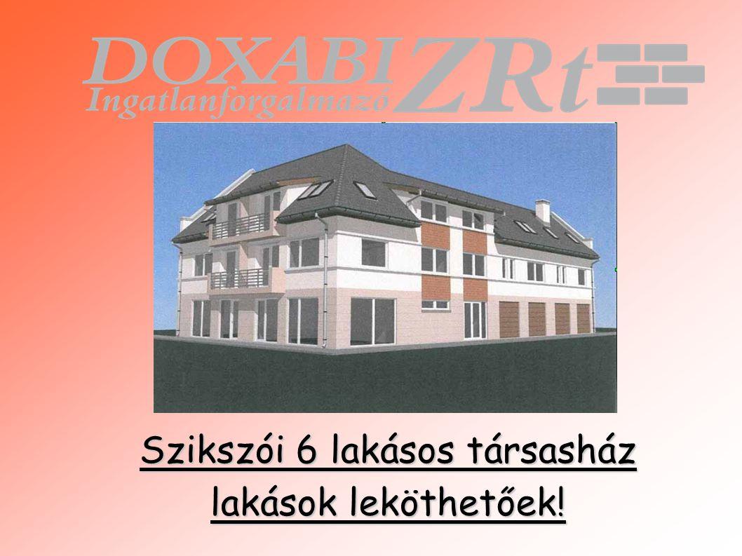 Szikszói 6 lakásos társasház lakások leköthetőek!