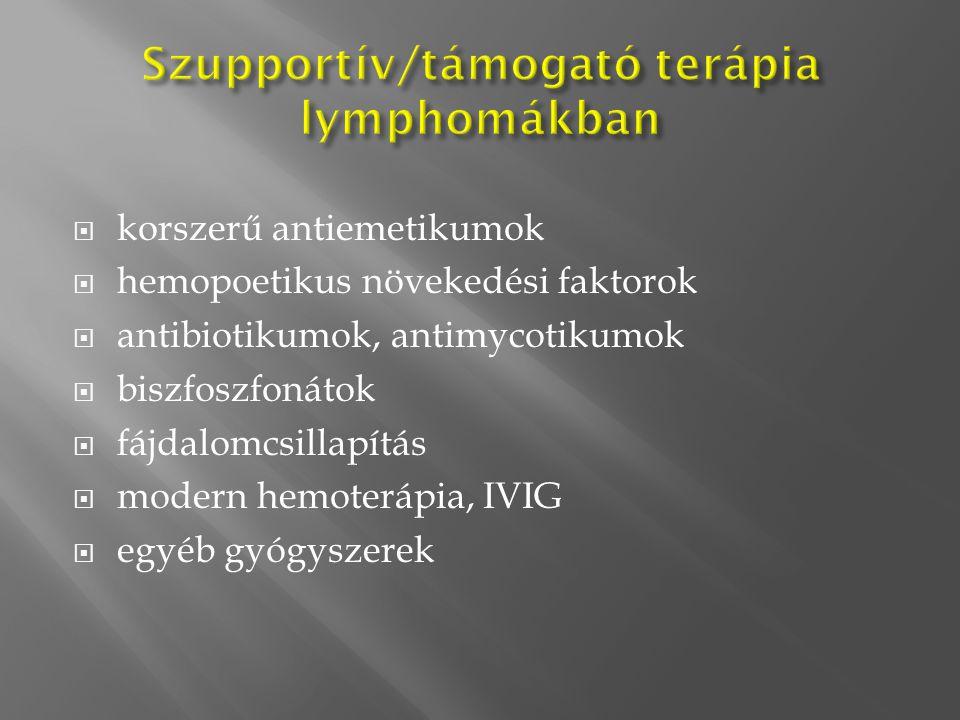 Szupportív/támogató terápia lymphomákban