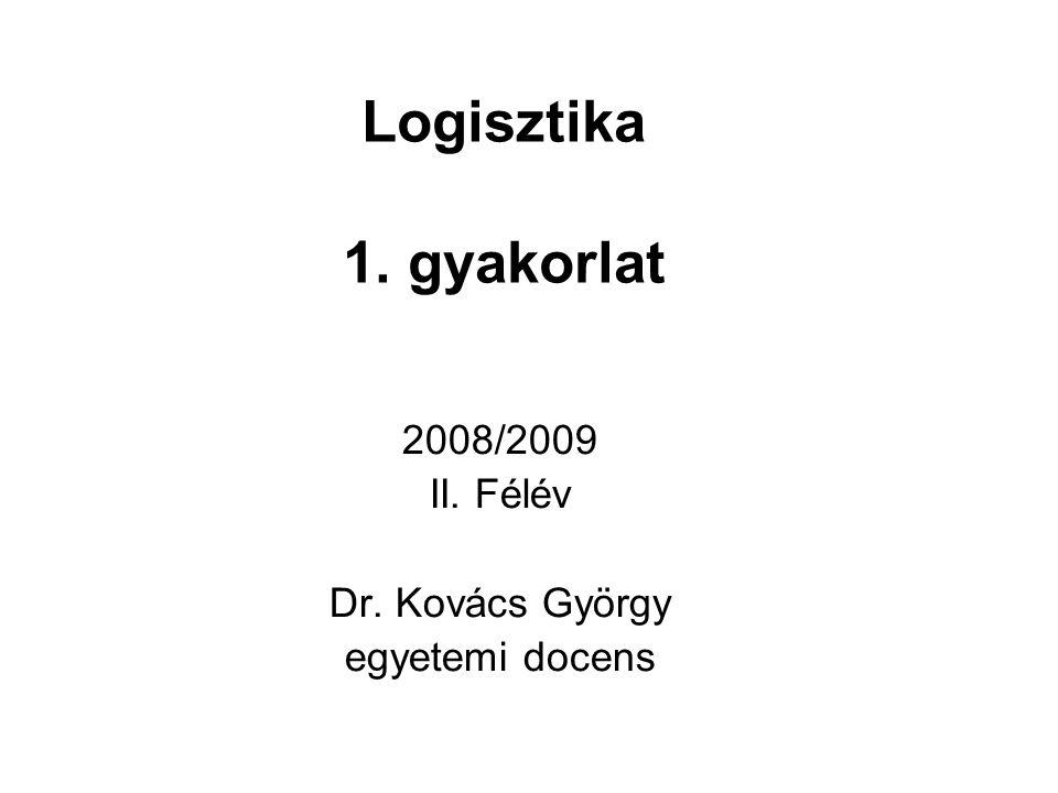 2008/2009 II. Félév Dr. Kovács György egyetemi docens
