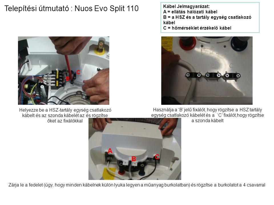 Telepítési útmutató : Nuos Evo Split 110