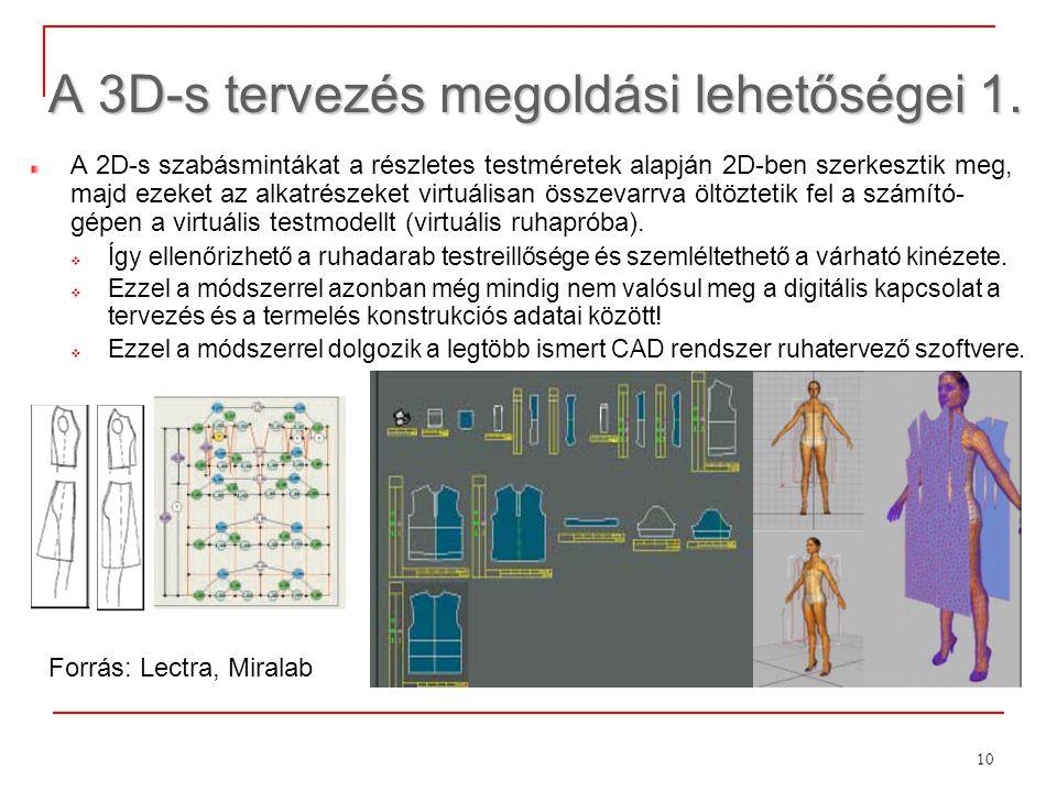 A 3D-s tervezés megoldási lehetőségei 1.