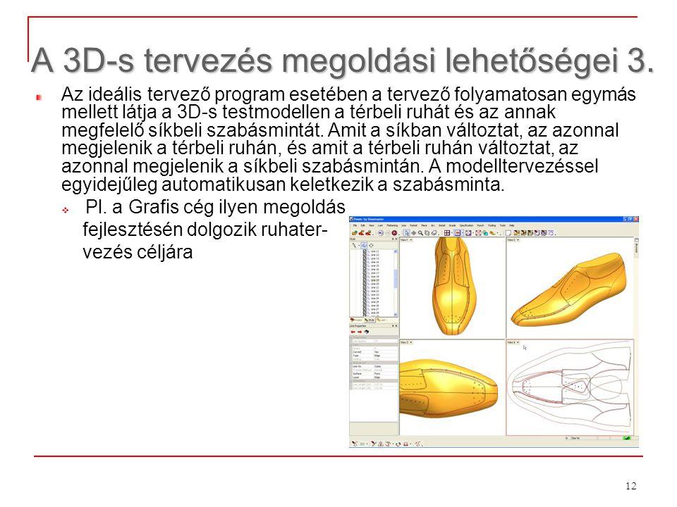 A 3D-s tervezés megoldási lehetőségei 3.