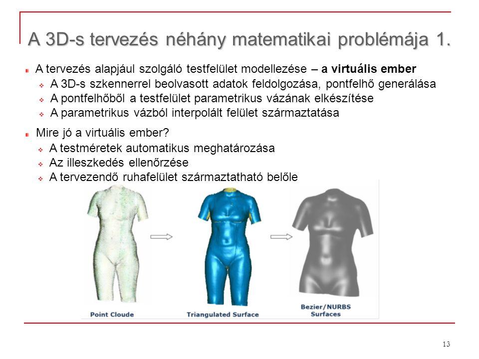 A 3D-s tervezés néhány matematikai problémája 1.
