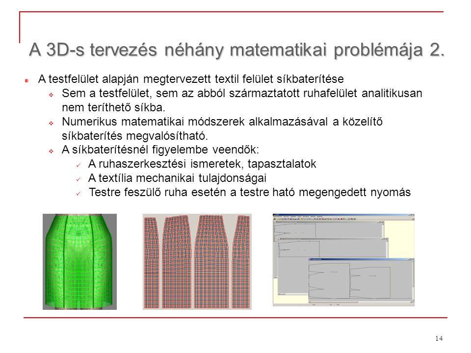 A 3D-s tervezés néhány matematikai problémája 2.