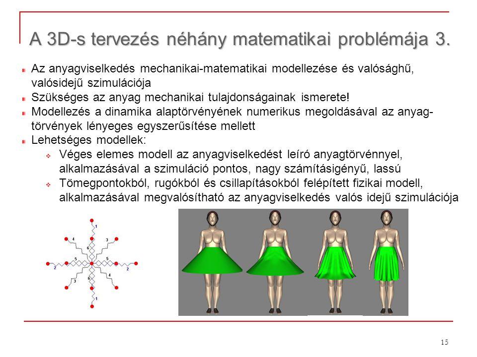 A 3D-s tervezés néhány matematikai problémája 3.
