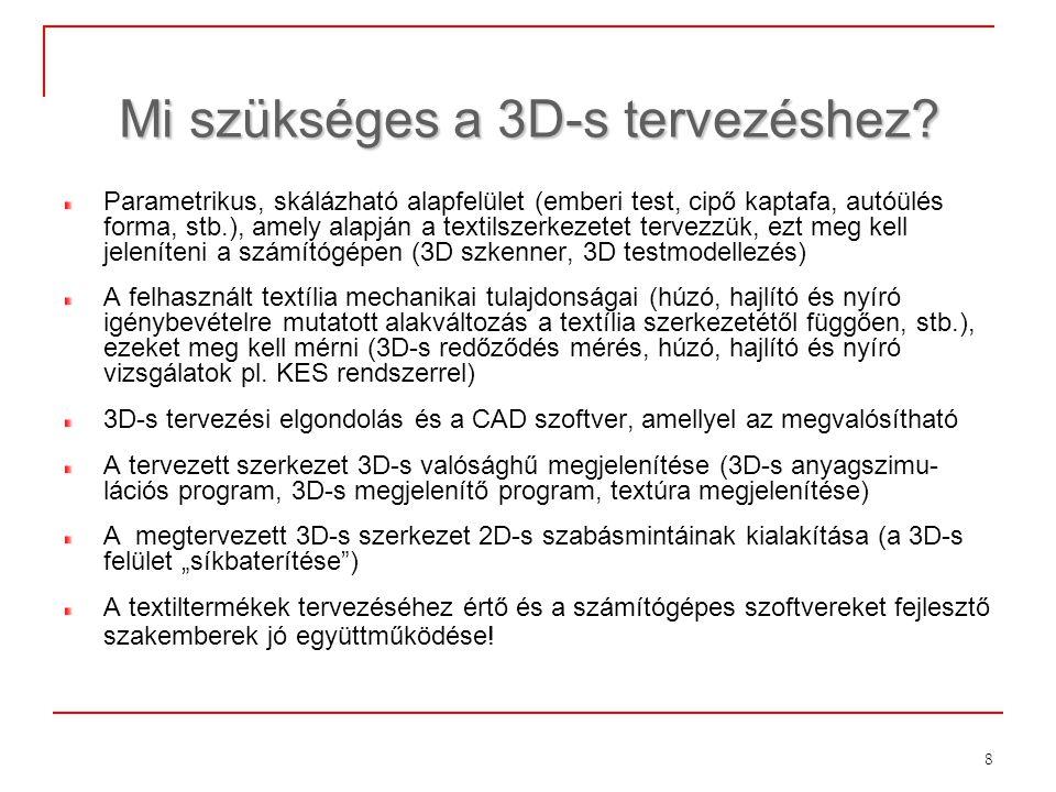Mi szükséges a 3D-s tervezéshez
