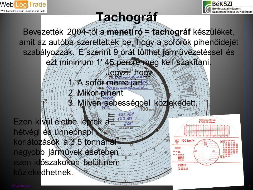 Tachográf
