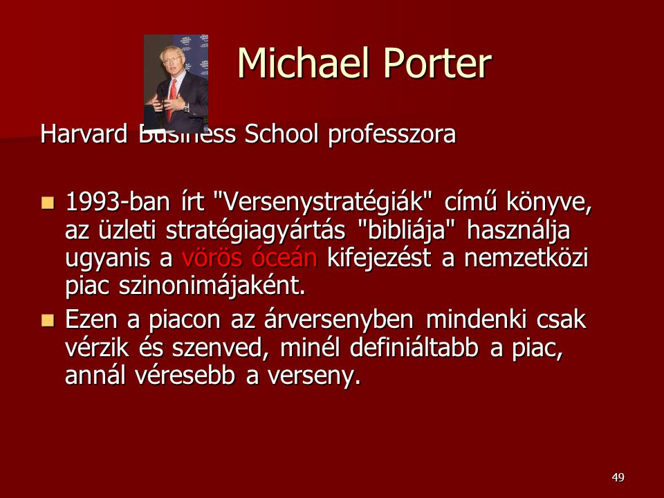 Michael Porter Harvard Business School professzora