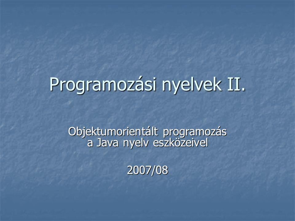 Programozási nyelvek II.