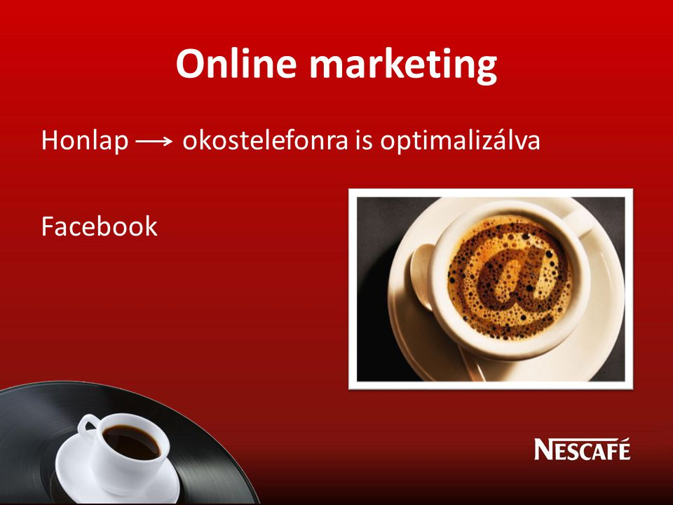 Online marketing Honlap okostelefonra is optimalizálva Facebook