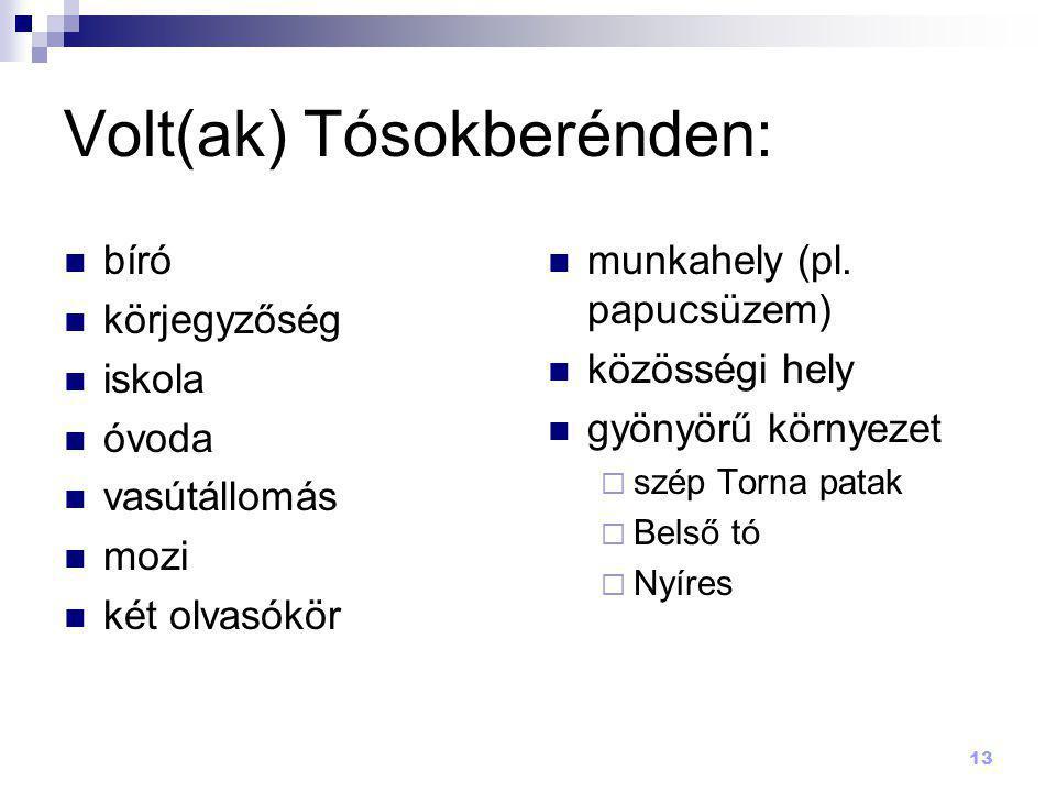 Volt(ak) Tósokberénden: