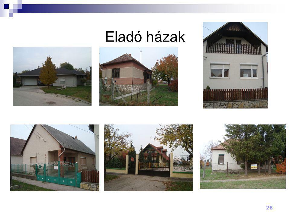 Eladó házak