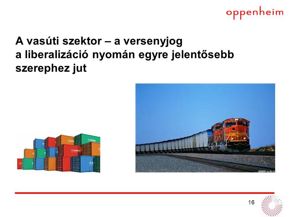 A vasúti szektor – a versenyjog a liberalizáció nyomán egyre jelentősebb szerephez jut