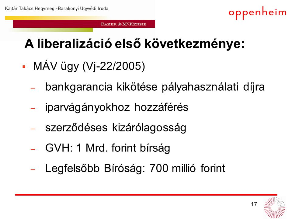 A liberalizáció első következménye: