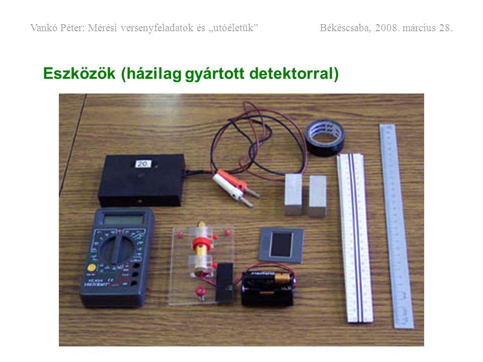 Eszközök (házilag gyártott detektorral)