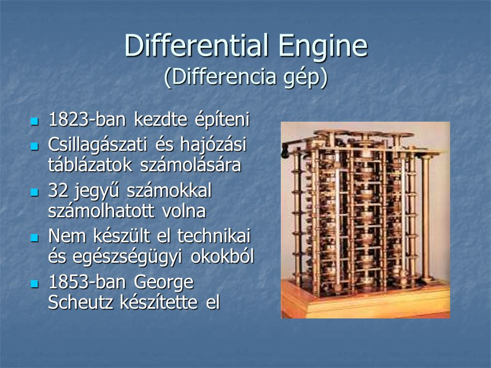 Differential Engine (Differencia gép)