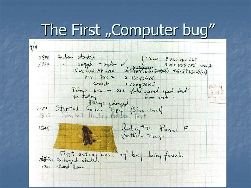 "The First ""Computer bug"