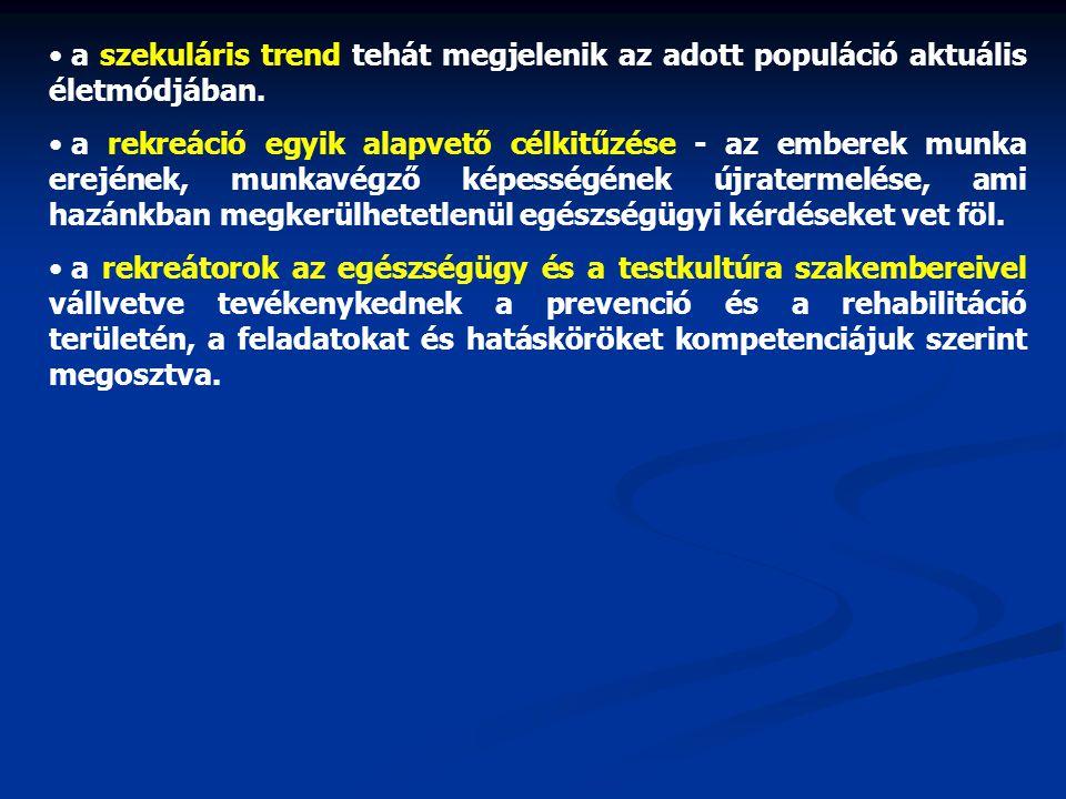 a szekuláris trend tehát megjelenik az adott populáció aktuális életmódjában.