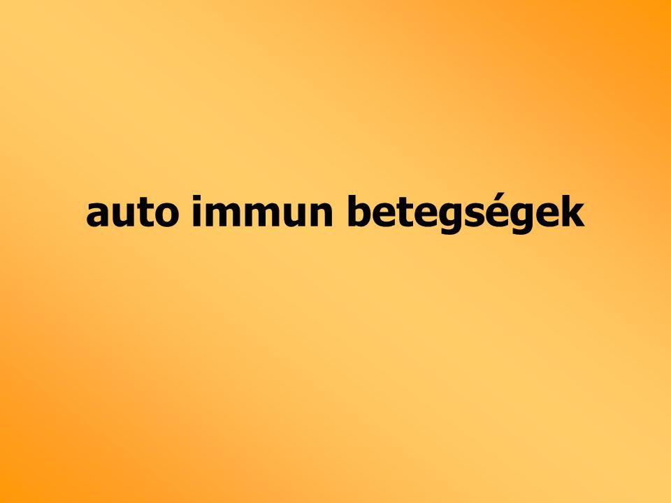 auto immun betegségek