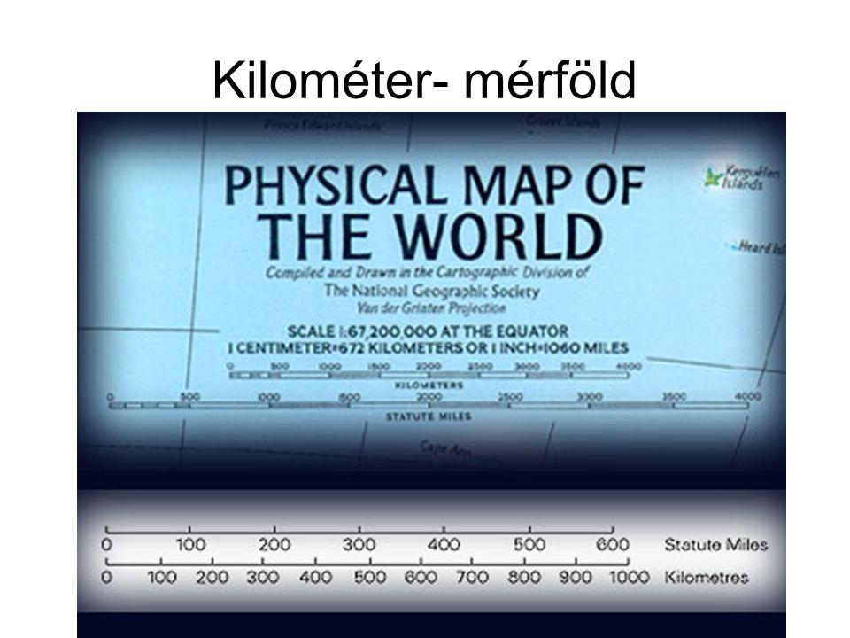 Kilométer- mérföld
