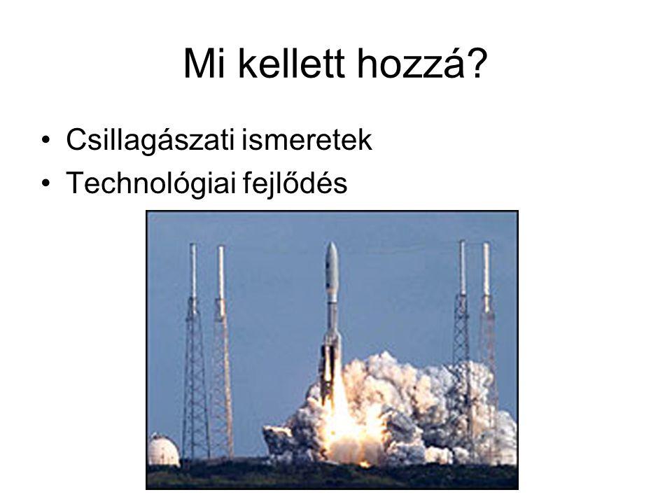 Mi kellett hozzá Csillagászati ismeretek Technológiai fejlődés