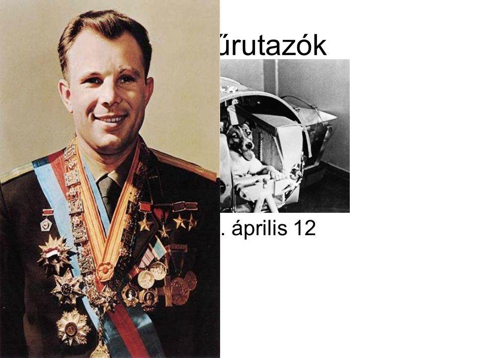 Első űrutazók Jurij Gagarin 1961. április 12