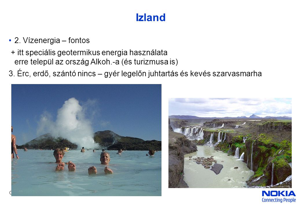 Izland 2. Vízenergia – fontos