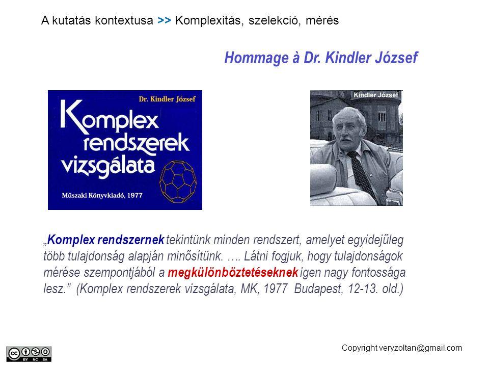 Hommage à Dr. Kindler József