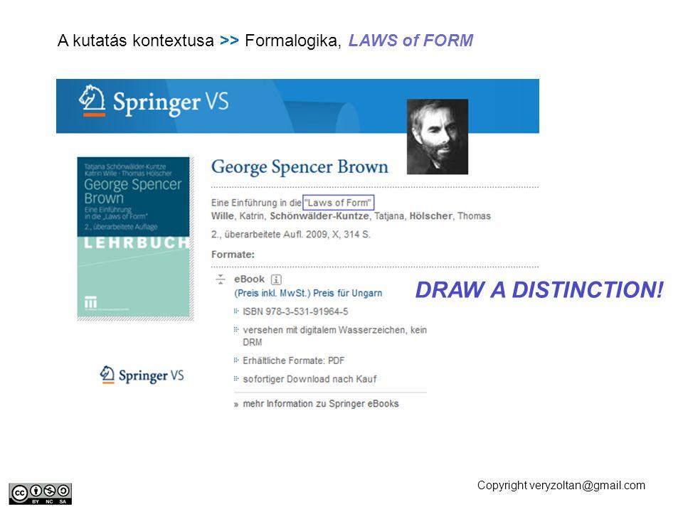 A kutatás kontextusa >> Formalogika, LAWS of FORM