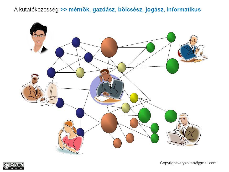 A kutatóközösség >> mérnök, gazdász, bölcsész, jogász, informatikus