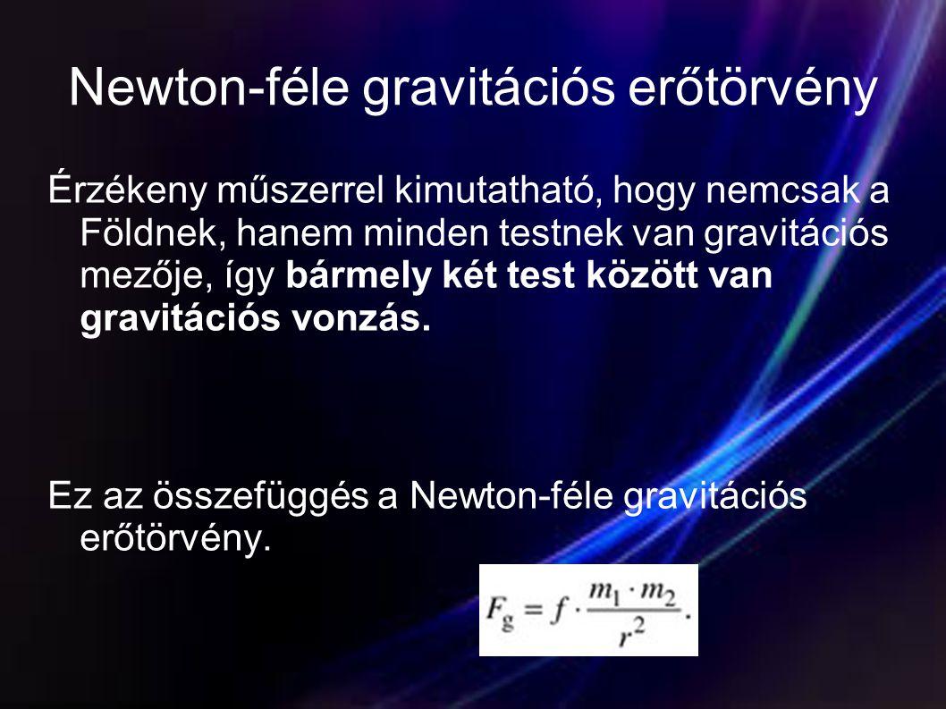 Newton-féle gravitációs erőtörvény