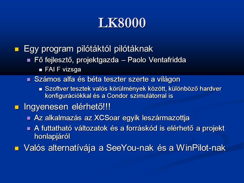 LK8000 Egy program pilótáktól pilótáknak Ingyenesen elérhető!!!